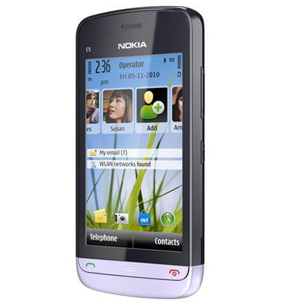 Smartphone Nokia C5 com Câmera 5.0MP, Display 3,2