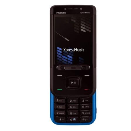 Celular N5610 Preto e Azul com Tecnologia 3G e GSM / Vídeo Call / Câmera 3.2MP / MP3 Player / Rádio FM / Bluetooth / Car