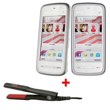 Celular GSM 5230 Branco e Vermelho com Câmera 2.0MP / Display de 3.2
