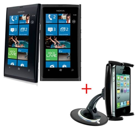 Smartphone Nokia Lumia 800 Preto com Display AMOLED ClearBlack de 3.7