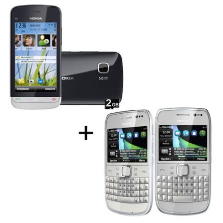Smartphone Nokia C5 + Smartphone Nokia E6