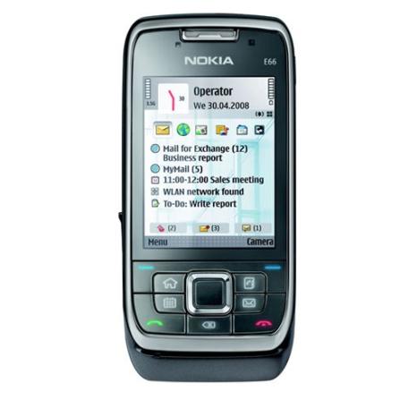 Celular 3G E66 com Câmera de 3.2MP / Rádio FM / MP3 Player / Bluetooth / Wi-Fi / GPS Integrado com 6 Meses de Navegação