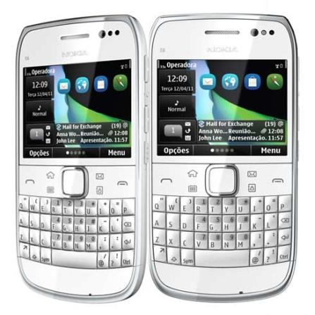Smartphone Nokia E6 Branco com Câmera 8MP, Display de 2,4