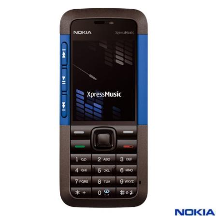Celular N5310 XpressMusic Azul com Câmera 2.0MP / MP3 Player / Bluetooth / Cartão de 2GB - Nokia
