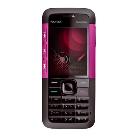 Celular N5310 XpressMusic Rosa com Câmera 2.0MP / MP3 Player / Bluetooth / Cartão de 2GB - Nokia