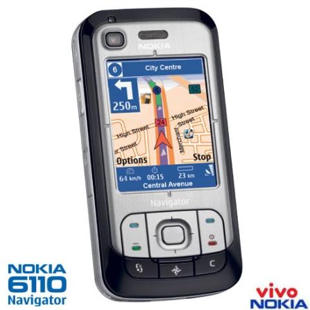 (Devolução Aline 24/09/08) Celular VIVO N6110 com Nokia Navigator e GPS Integrado / Câmera 2.0MP / MP3 Player / Rádio FM
