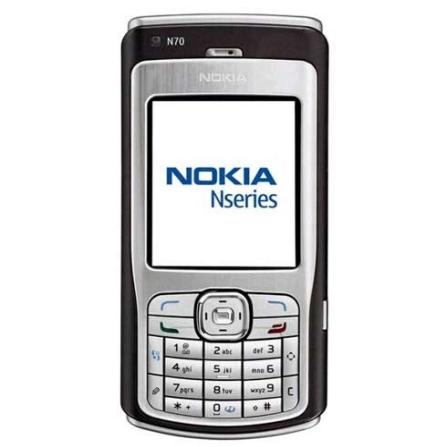Celular GSM N70 com Câmera 2.0MP / MP3 Player / Rádio FM / Conexão Bluetooth / Cartão de 1GB / Prata - Nokia