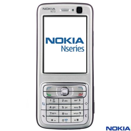 Celular GSM N73 com Câmera de 3.2 MP / Music Player / Bluetooth / Cartão de 512MB com Filme Missão Impossível III e Cart