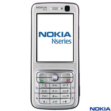 Celular GSM N73 com Câmera de 3.2 MP / MP3 Player / Rádio FM Bluetooth - Nokia