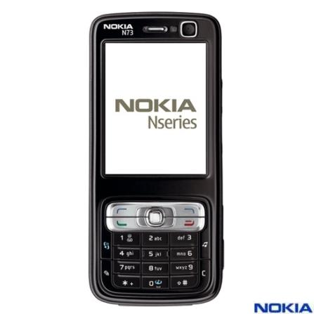 Celular N73 com Câmera de 3.2 MP / MP3 Player / Bluetooth / Cartão de 2Gb - Nokia, Bivolt, Bivolt, Preto, 0, False, 1, N, False, False, False, False, False, False, I, 12 meses, Micro Chip