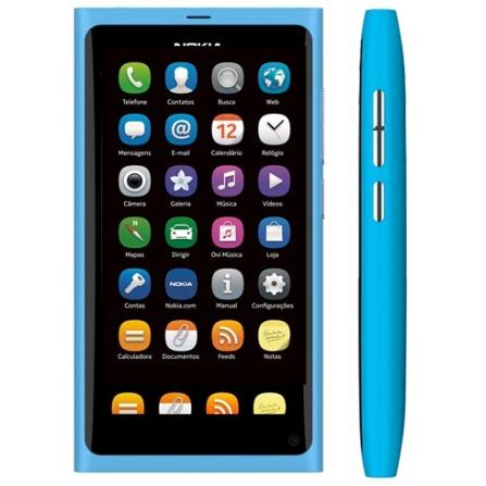 Smartphone Nokia N9 Azul com Display Amoled de 3.9