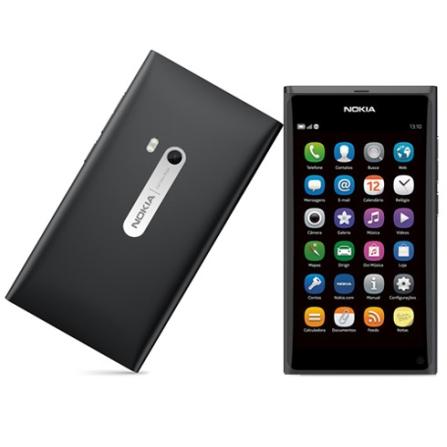 Smartphone Nokia N9 Preto Câmera 8MP Filma em HD