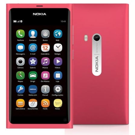 Smartphone Nokia N9 Rosa com Display Amoled de 3.9