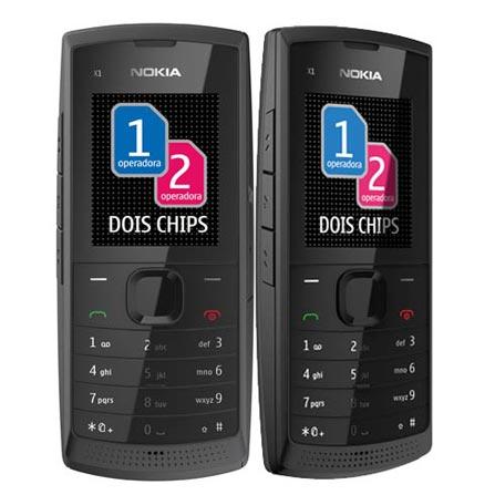 Celular Dual Nokia X1_01 Preto com Display de 1.8