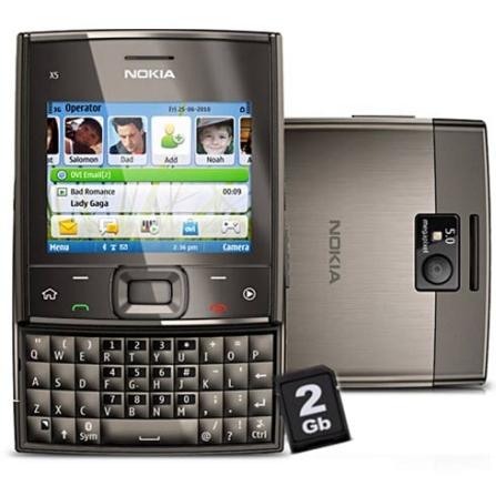 Celular X5 c/ Teclado Qwerty e Modem Interno Nokia