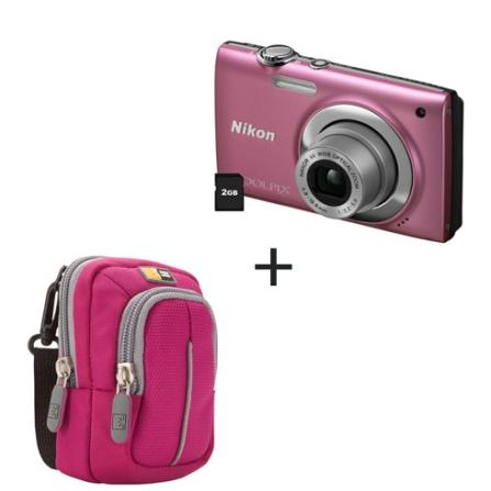 Coolpix S2500 Rosa 12MP + Case