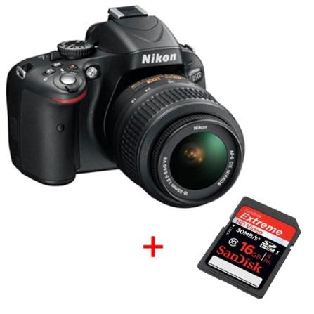 D5100 +Lente 18-55mm +2 anosgarantia +Cartão 16GB