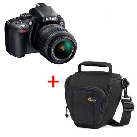 D5100 c/ Lente 18-55mm + Case Profissional, DG