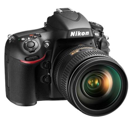 Câmera Digital Reflex Nikon DSLR D800 Preta com 36.3 MP, Tela LCD de 3,2