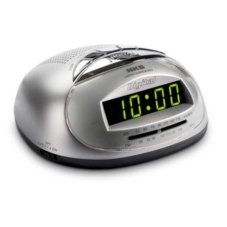 Rádio Despertador com Display Digital luminoso / Cinza - NKS - GL324