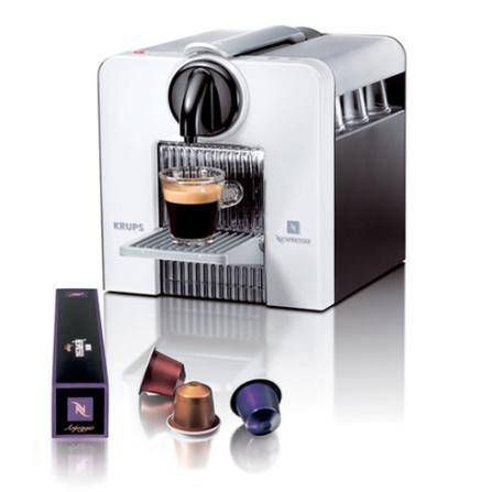 (ver NLCJ180WH_3031) Cafeteira Expresso Automática Le Cub White com Controle Programável da Quantidade de Café / Compart, 110V