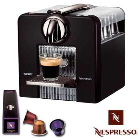 Cafeteira Espressa Automática Le Cub Black com Controle Programável da Quantidade de Café / Compartimento Removível de Á