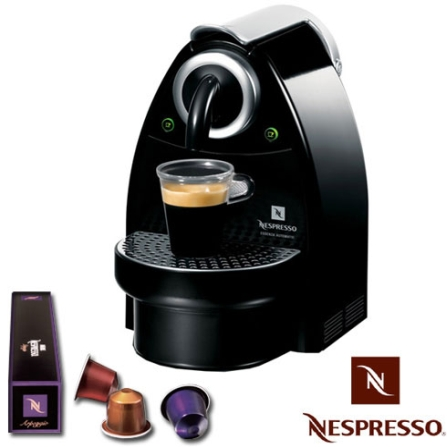 Cafeteira Espressa Automática Essenza C100 Preta + Kit Boas Vindas - Nespresso