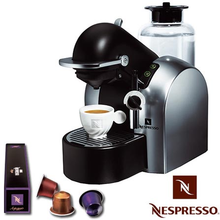 Máquina de Café Expresso Concept D290 Automática Titânio + Kit Boas Vindas - Nespresso
