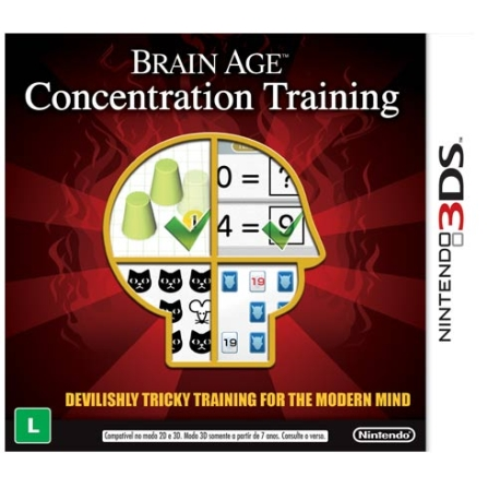 Jogo Brain Age: Concentration Training para Nintendo 3DS