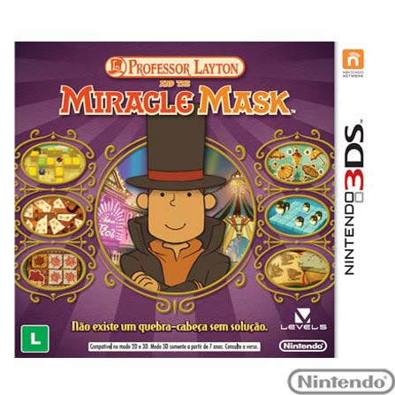 Jogo Professor Layton And The Miracle Mask para Nintendo 3DS