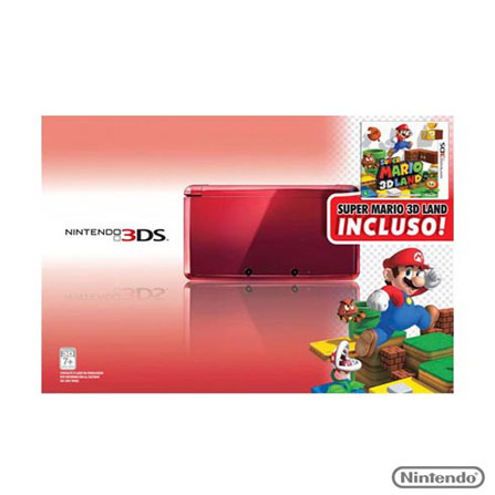 Console Nintendo 3DS + Jogo Mario 3D Land, GM, Console 3DS