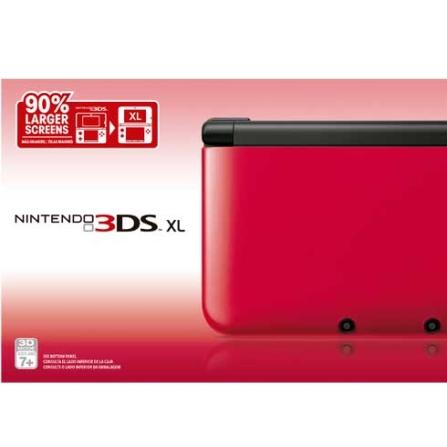 3DS XL Vermelho + Jogo 3DS Mario Tennis Open 7, GM, Nintendo 3Ds