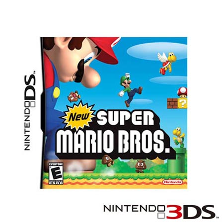 Console Nintendo 3DS Rosa + Jogo New Super Mario Bros, GM