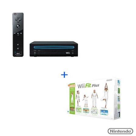 Console Wii Black Core Preto, GM