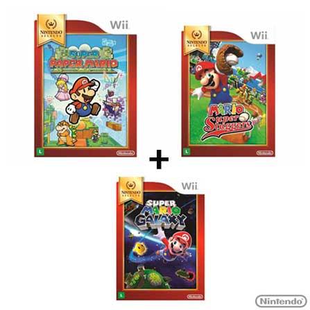 Pack Mario - Wii - 3 Jogos, GM