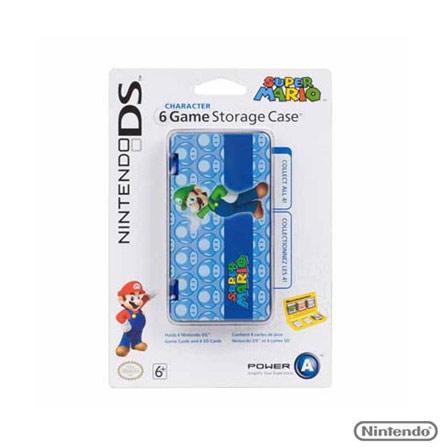 Estojo Proteção p/ 6 cartões dejogo p/ Nintendo DS, Não se aplica, Capas, Cases e Mochilas, Nintendo DS, 03 meses