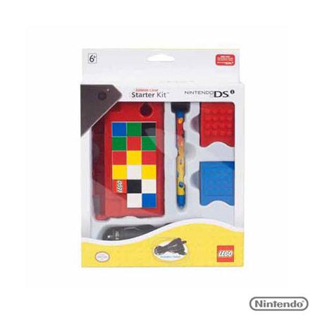 Case Vermelho Lego Armor Starter p/ Nintendo DSI, Vermelho, Capas, Cases e Mochilas, Nintendo DSi, 03 meses