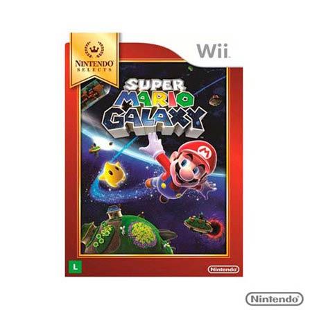 Jogo Super Mario Galaxy para Wii, GM, Aventura