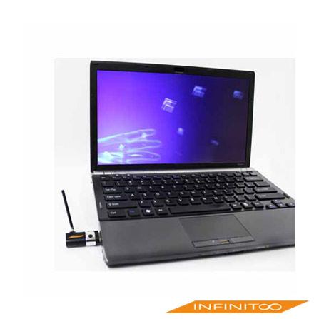Receptor de TV Digital USB Portátil Preto Infinito, Periféricos