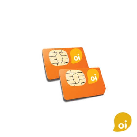 Chip Pré-Pago (Pack com 2 Chip) / DDD 19 - Oi