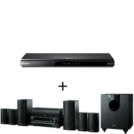 Home Theater (Receiver + Caixas) Onkyo HTS5400 com 7.1 Canais, Potência de 1030W RMS, USB Frontal, HDMI 1.4 Repeater e 4