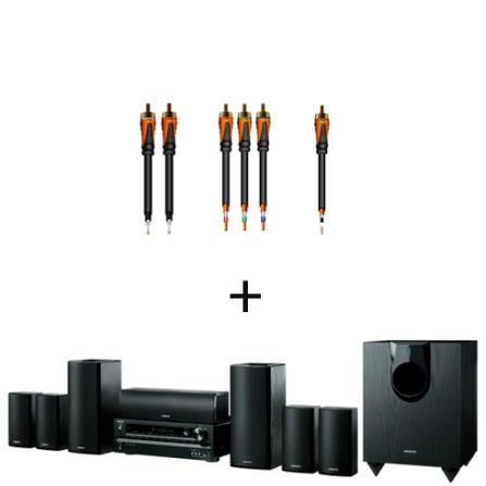 Home Theater (Receiver + Caixas) Onkyo HTS5400 com 7.1 Canais, Potência de 910W RMS, Compatível com Tecnologia 3D, USB F
