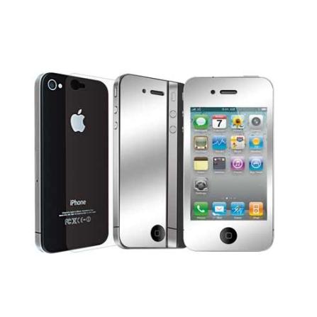 Pelicula Protetora Espelhada iCoat Mirror Incolor para iPhone 4 - Ozaki - IC845, Não se aplica