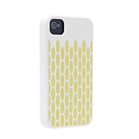 Capa Protetora de Silicone Charity Branco para iPhone 4 - Ozaki - C848CH, Branco, 06 meses