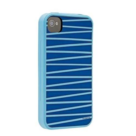 Capa Protetora de Silicone Prudence Azul para iPhone 4 - Ozaki - IC848PR, Azul, 06 meses