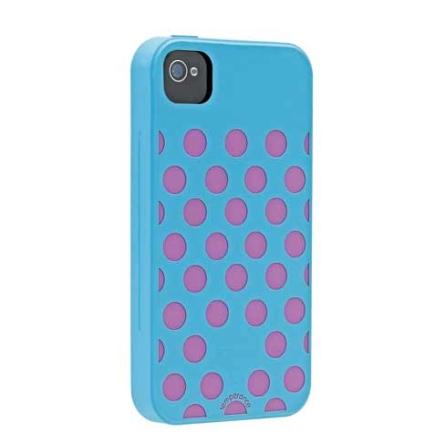 Capa Protetora de Silicone Temperace Azul para iPhone 4 - Ozaki - IC848TE, Azul e Rosa, 06 meses