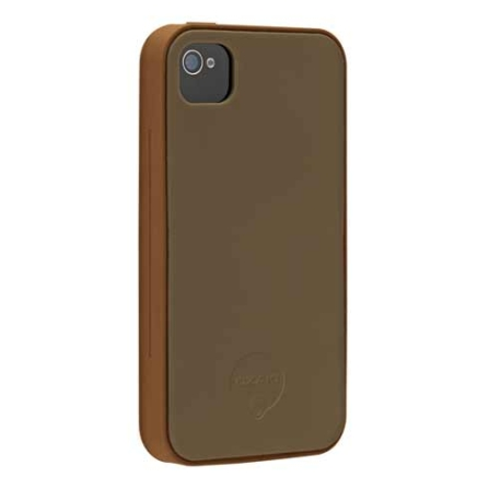 Capa Protetora de Silicone Chocolate para iPhone 4 - Ozaki - IC858CH, Marrom, 06 meses