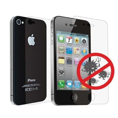Película Antibacterial Incolor p/ iPhone 4 Ozaki, Não se aplica, 06 meses