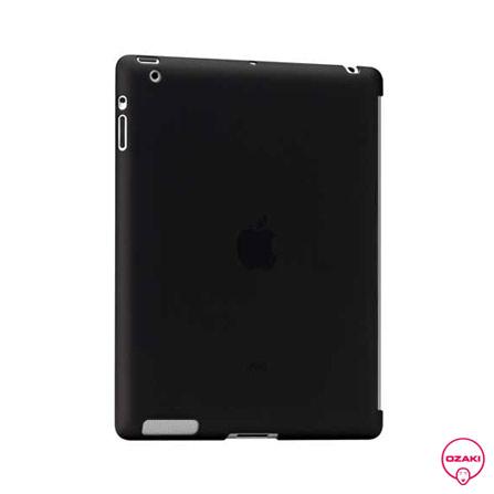 Capa Protetora de Plastico Fosco Preto para iPad2, Preto