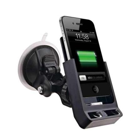 Suporte Veicular de Carro  iCarry S Preto para iPhone 4 - Ozaki - IH916A